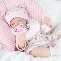 "42cm Realistic Doll Reborn Babies Handmade Baby Safety Silicone Dolls Girl Gift Toys For Kids 17"" Soft Doll"