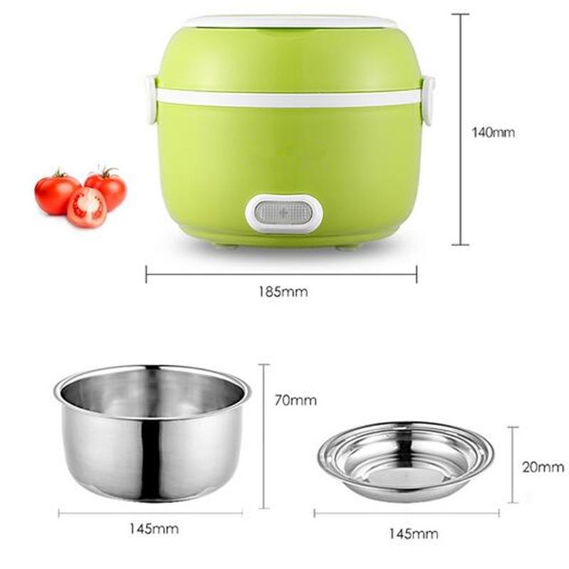 1.2L Taşınabilir Öğle Yemeği Kutusu Elektrikli Pirinç Ocak 200 - Elektrikli Mutfak Aletleri - Fotoğraf 3