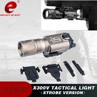 Airsoft Element Surefir X300V Tactical Flashlight 220 Lumens Lamp Pistol Light Strobe X300 Weapon Gun Light EX381