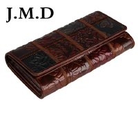 JMD Free Shipping Tanned Genuine Leather Folded Wallet For Women's Coin Purse 8094
