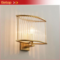 Post modern Square Crystal Wall Lamp Nordic Fashion Warm Aisle Stairs Bedside Wall Lamp E14 LED Indoor Lighting Fixture