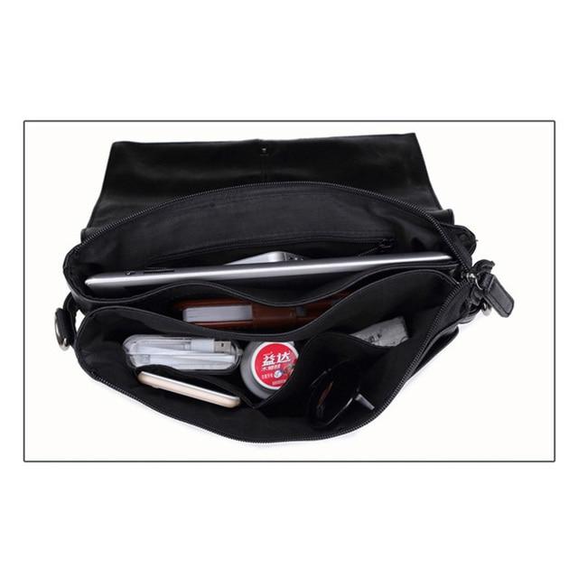 MAGIC UNION Men Leather Shoulder Bag Envelope Style Bag Large-capacity Messenger Bags High Quality Men's Leather Handbags 4