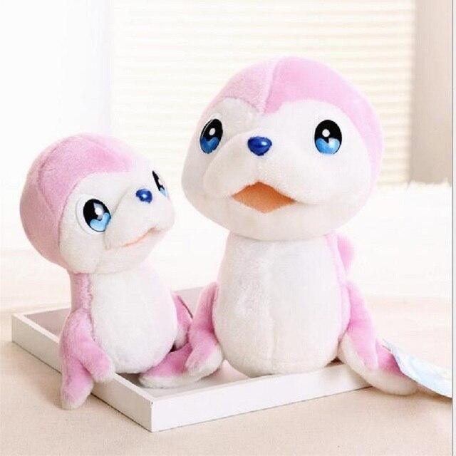 Новорожденный мягкий милый мультфильм морской волк детские игрушки раннее образование 1 большой и 1 небольшой пара детские игрушки красочный детские прорезыватель погремушка
