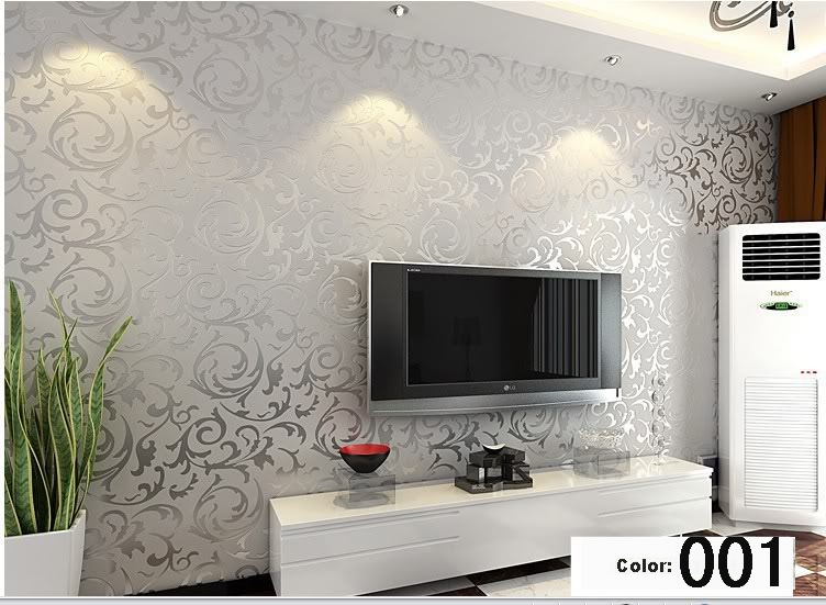 Aliexpress Buy Italian Style Modern 3D Embossed Background Wallpaper For Living Room Silver And Gray Striped Roll Desktop From