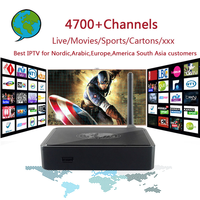 Global PRO IPTV with MAG254 Box  4700+ Channels Nordic,Arabic,Europe,America South Asia IPTV with  Adult xxx Gift Set top box global global adv workbook