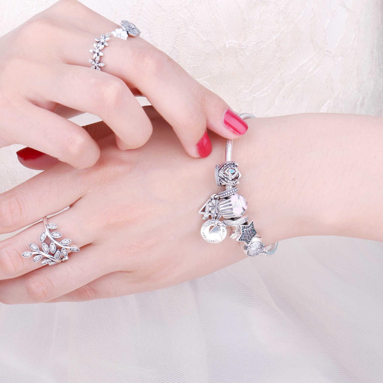 JewelryPalace Bolo 925 Grânulos de Prata Esterlina Encantos de Prata 925 Original Para Tomada de Contas de Jóias Pulseira De Prata 925 originais