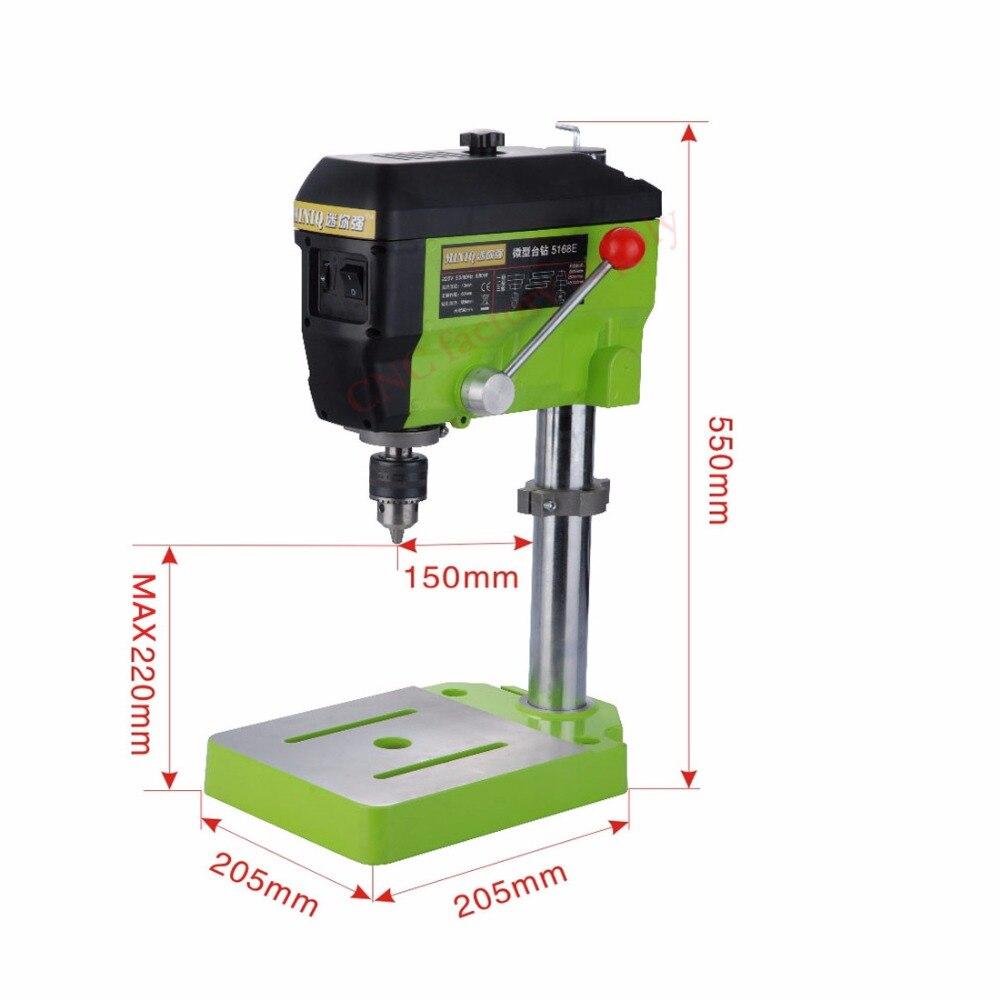 Piano di lavoro Mini Elettrica Fresatura Macchina A Velocità Variabile Trapano Micro Presse Grinder BG-5168E morsa Multifunzionale Tavolo di Lavoro