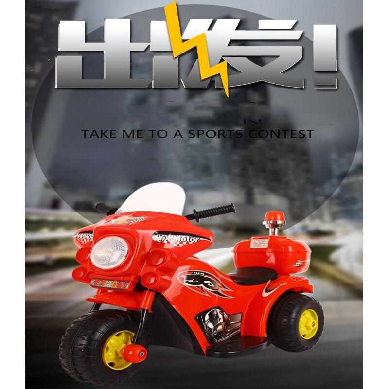 Voiture électrique pour enfants moto hommes et femmes enfants Tricycles à pédales batterie Cool voiture de Police tout-terrain peut asseoir les gens
