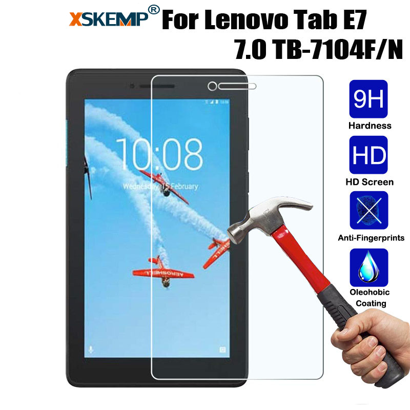 XSKEMP Ultra Clear Tempered Glass For Lenovo Tab E7 / E8 / E10 / M10 / P10 Premium Screen Protector Tablet Film Explosion Proof