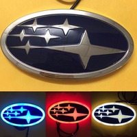 Newest Design 4D Stylish LED logo decoration Badge Emblem Light for Subaru Forester Legacy XV ( Red/White/Blue option )