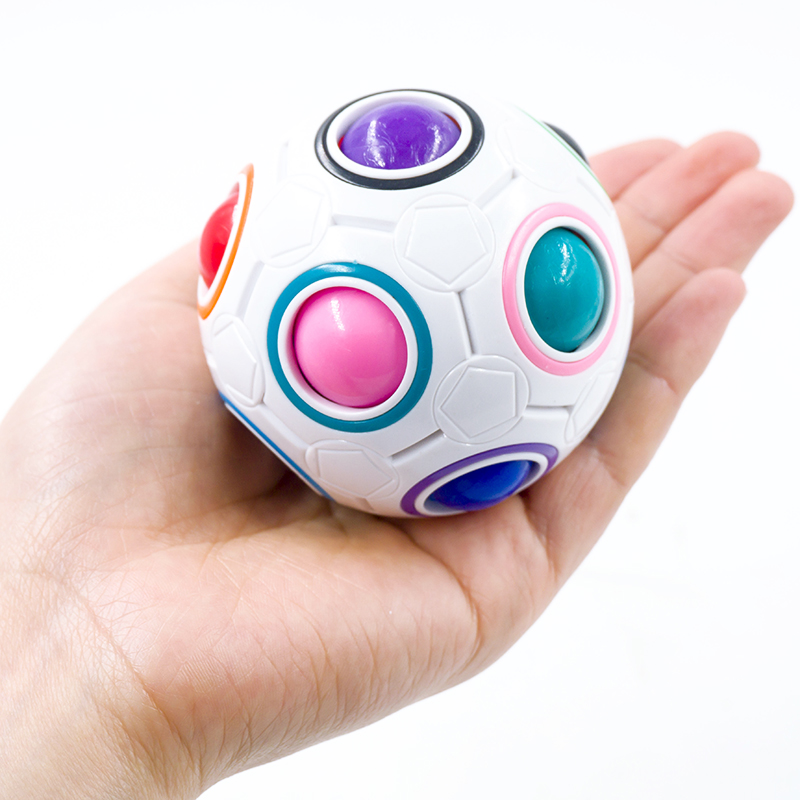 1Pc Magic Cube Fidget Toy Spherical Rainbow Ball Football Puzzles Desk Toy Anti Stress Educational Learning Toys For Children