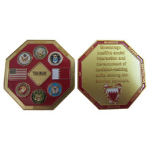 Factory custom plating double-sided coins high quality engraving 3D