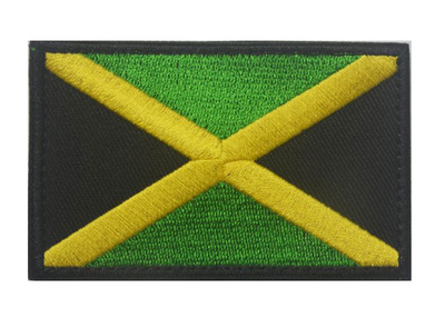 jamaica flag embroidered emblem rasta jamaican rastafarian national