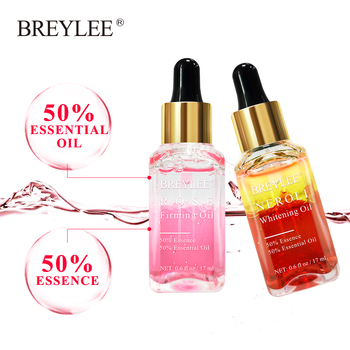 BREYLEE 2PCS Rose Firming Essential Oils Whitening Serum Hyaluronic Acid Moisturizer Essence Anti Aging Wrinkles Face