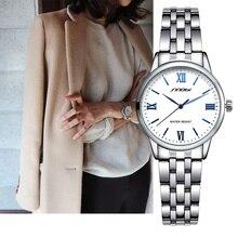 SINOBI Лидирующий бренд модные женские часы Сталь женские кварцевые часы Для женщин тонкий Повседневное ремешок Reloj Mujer Мрамор циферблат SK