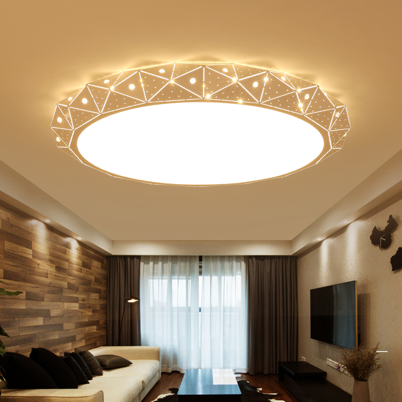 Round Surface mounted Minimalism modern led ceiling lights for living Room study room bedroom White AC85-265V Ceiling Lamp noosion modern led ceiling lamp for bedroom room black and white color with crystal plafon techo iluminacion lustre de plafond