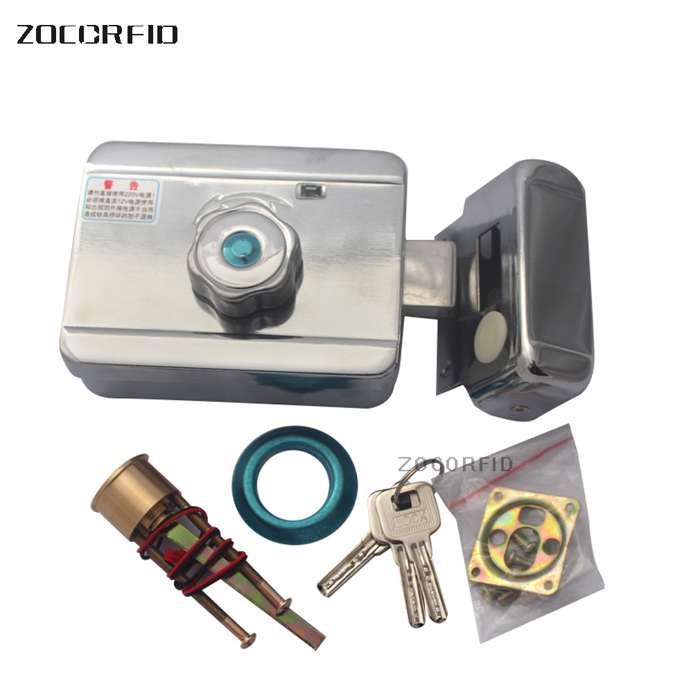 Professional  Stainless Steel SY-118 Motor Drive  Access Controller Electronic  Lock  /mute Electric Lock/ DC-12V