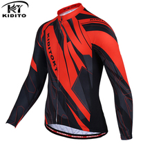 KIDITOKT Calixe 2017 Long Sleeve Pro Cycling Jersey Autumn/Spring 100% Polyester Ropa Ciclismo Bike Clothing For MTB Bicycle