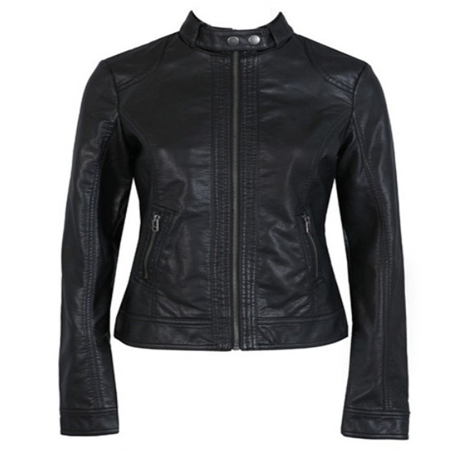 Veste en cuir noir femme pimkie