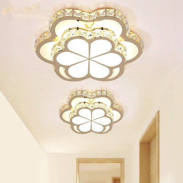 Nordique luxe fleurs LED plafonniers pour salon cuisine chambre éclairage cristal plafonnier encastré plafonnier