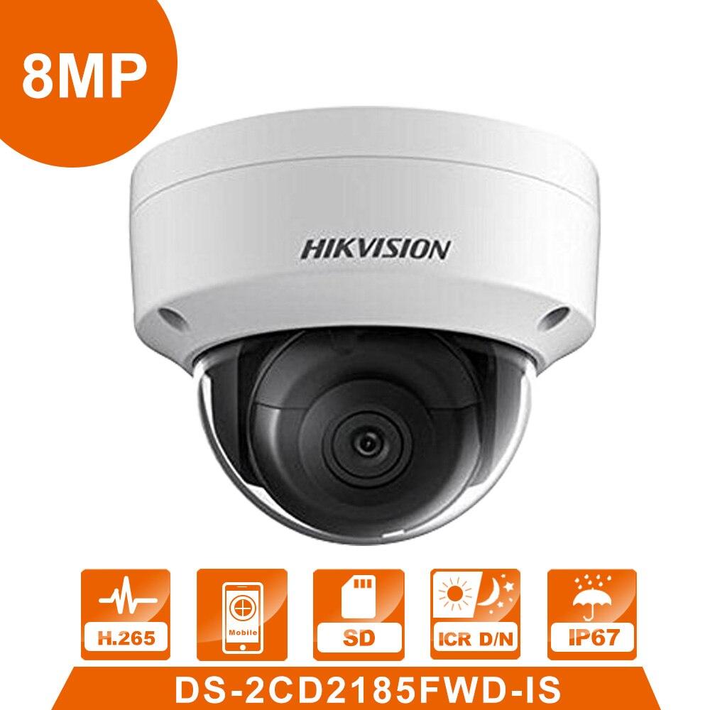 Hik DS-2CD2185FWD-IS IP Camera  8MP Network Dome Camera H 265 CCTV Dome Camera  IP67 with Audio surveillance webcam зимняя шина nokian hakkapeliitta 8 suv 265 50 r20 111t