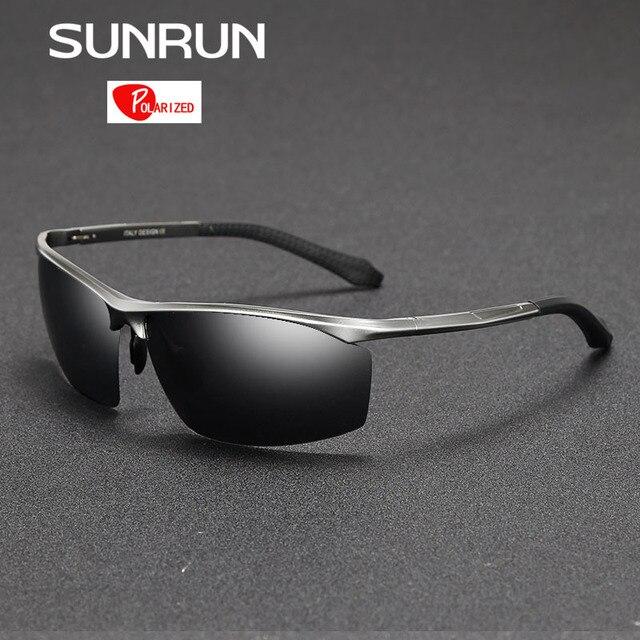 SUNRUN hombres gafas de Sol Polarizadas De Aluminio Y Magnesio Gafas de Sol de Espejo de Conducción Gafas de Gafas para Hombre gafas 8556