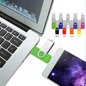 Dual Port Smart Phones OTG USB Flash Drive 64GB Pendrive 32GB Pen Driver Memory Stick Clef USB For Android Multitul USB Driver