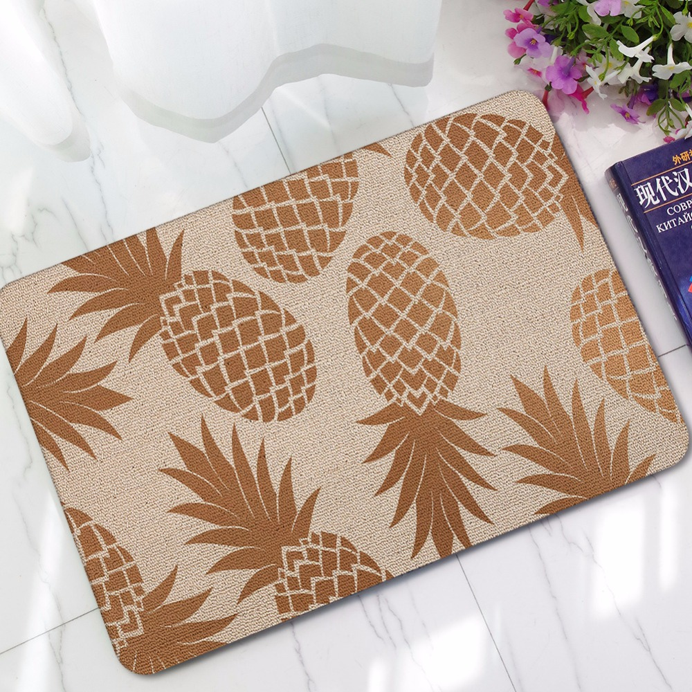 Pineapple Kitchen Rugs: CAMMITEVER Rug Home Decor Pineapple Carpets Non Slip
