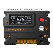 Panneau de contrôle de Charge solaire 12V/24V 20A  Panneau de régulateur de batterie, interrupteur automatique, Protection contre les surcharges