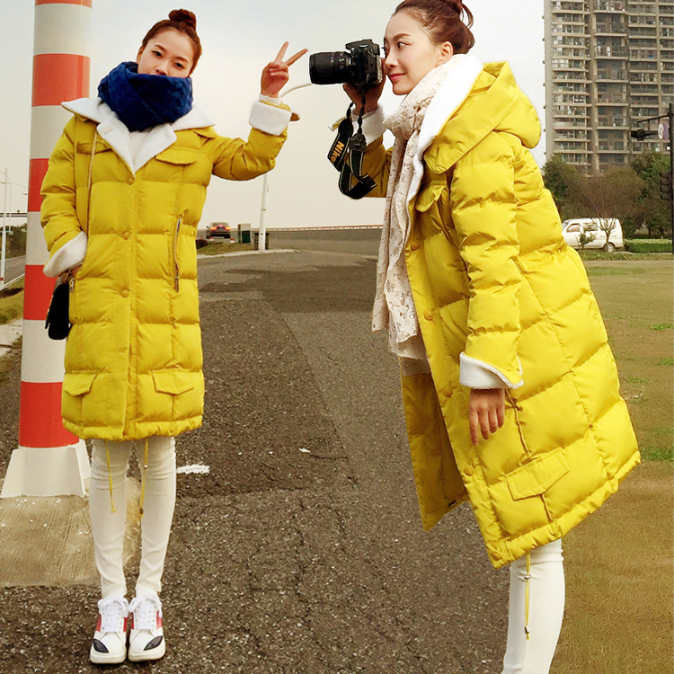 HRM Lamb's wool coat female 2017 new winter long section of thick hooded down jacket female tide Cotton clothes 2017 new winter a doll coat jacket in the long section of fox fur coat down all female hooded women thick parkas