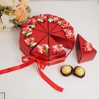 20 adet Yaratıcı Güzel Çiçek Küçük Parti Favor Ile Şekil Düğün Şeker Kutusu Hediye Kutusu