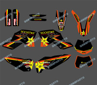 0305 NEW STYLE TEAM GRAPHIC WITH MATCHING BACKGROUNDS FOR KTM SX SXF FULL SIZE MODEL 2007
