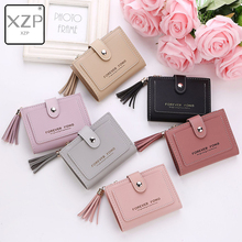 XZP Wallet Women Purses Tassel Fashion Coin Purse Card Holder Wallets Female High Quality Clutch Money Bag PU Leather Wallet new fashion women wallet crocodile pattern high quality purse for female coin purses money card holders ladies buckle purses y3