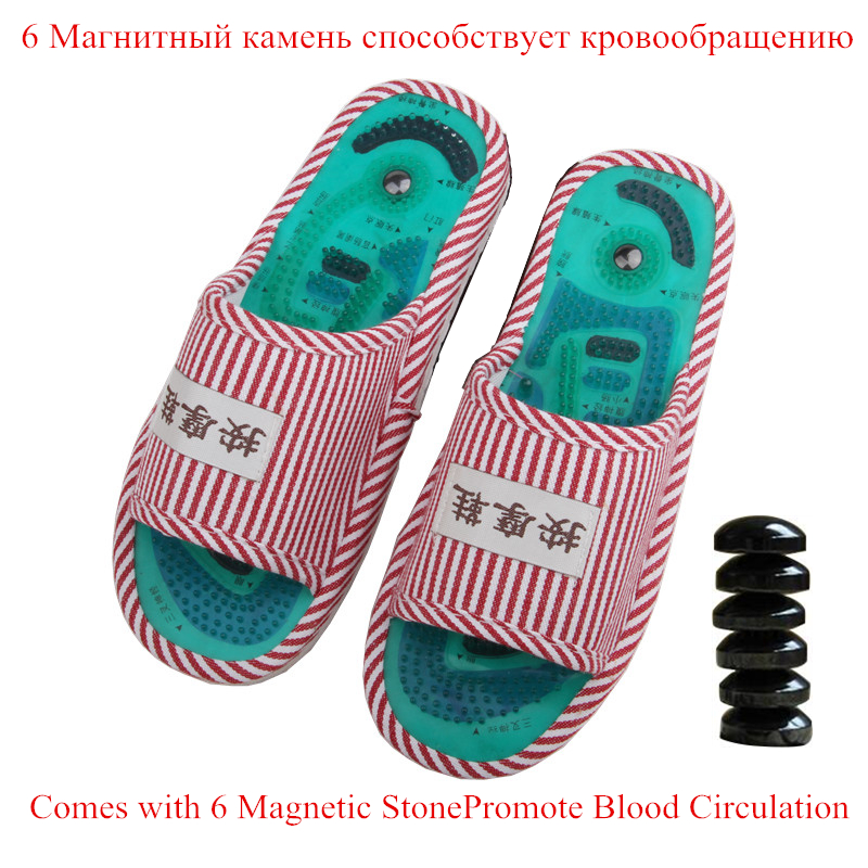 Reflexology Foot Acupoint Slipper Massage Promote Blood Circulation Relaxation Acupuncture Health Feet Care Shoes Pain Relief green foot reflexology electric vibrating foot massage infrared heat therapy body relax blood circulation warm feet massager