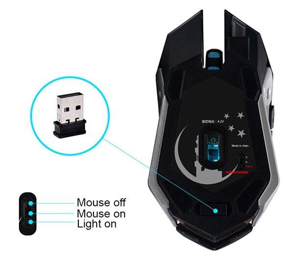 AZZOR Rechargeable Wireless Gaming Mouse AZZOR Rechargeable Wireless Gaming Mouse HTB1L2znSXXXXXcrXXXXq6xXFXXXT