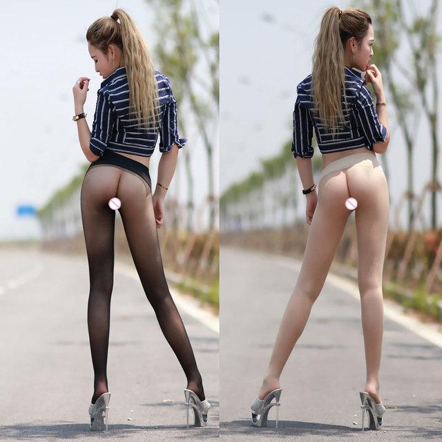 10D Meias Quentes sensuais Das Mulheres Sem Costura Ver Através Meias Roupa Interior Sexy Lingerie Discrição Meias de Seda Meia-calça FX1039