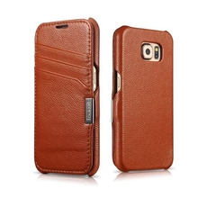 For Samsung Galaxy S6 G9200 Top Quality Pure Hand Made Luxury Genuine Leather Flip Magnet Cover Case Card Moblie Phone Bags