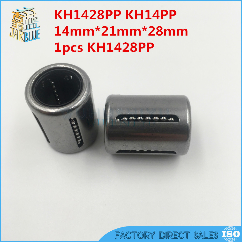 KH1428PP 14mm Bearing 14mmx21mmx28mm Linear Bearing Pressing Bush Linear Bearing For 14mm Shaft 1pcs
