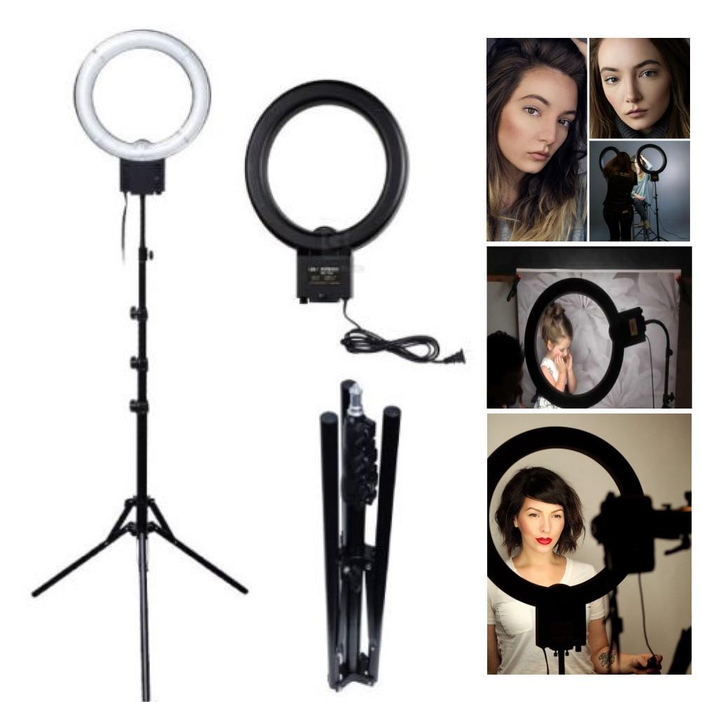 Studio 40W 5400K Daylight Fluorescent Diva Ring Light with 185cm Tripod Light Stand for Video Photo Makeup Lighting Selfie 220V кольцо для селфи selfie ring light на батарейке белое