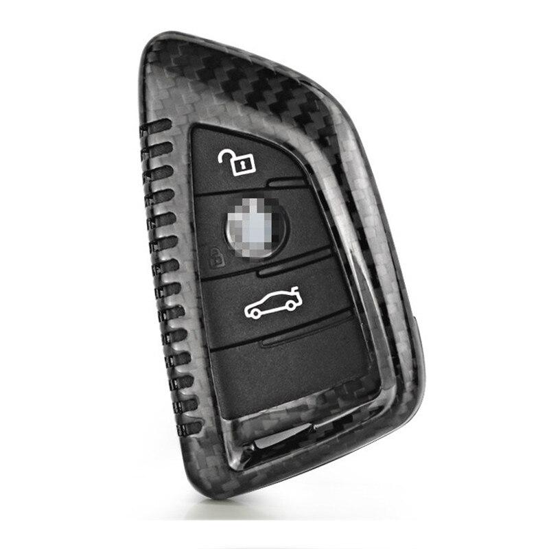 Teeze nouvelle marque de haute qualité nouvelle vraie Fiber de carbone Auto à distance Flip clé Fob titulaire peau coque étui pour BMW série