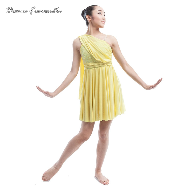 lycra with yellow stretch net bodice ballet dress women \u0026 girl stage  performance costume Lyrica contemporary dance costume