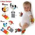 0 ~ 24 Meses Do Bebê Recém-nascido Meias Animais Meias Pé Chocalhos Brinquedos Developmental Macio Brinquedos De Pulso V20