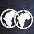 Um par apenas Diy Unfinished madeira mapa áfrica grandes 8 cm V10