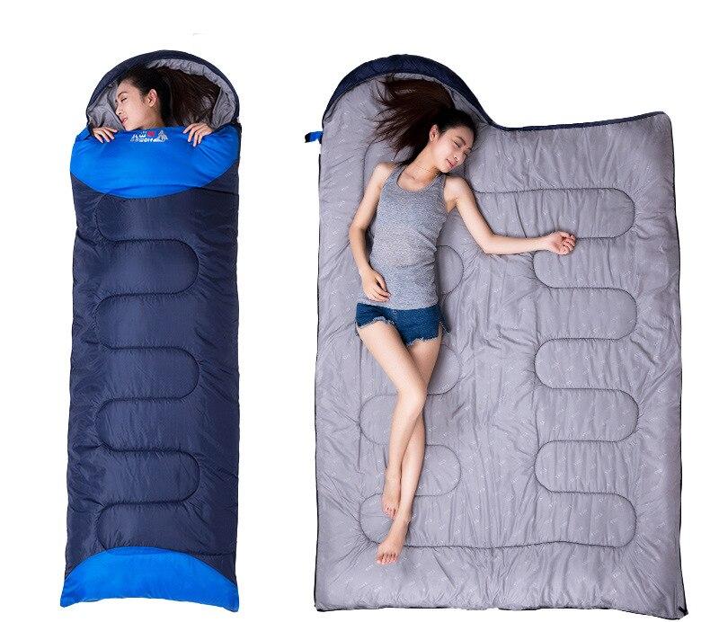 Sleeping Bag Ultralight Camping Cotton winter autumn envelope hooded outdoor goose down sleeping bags camping vacuum