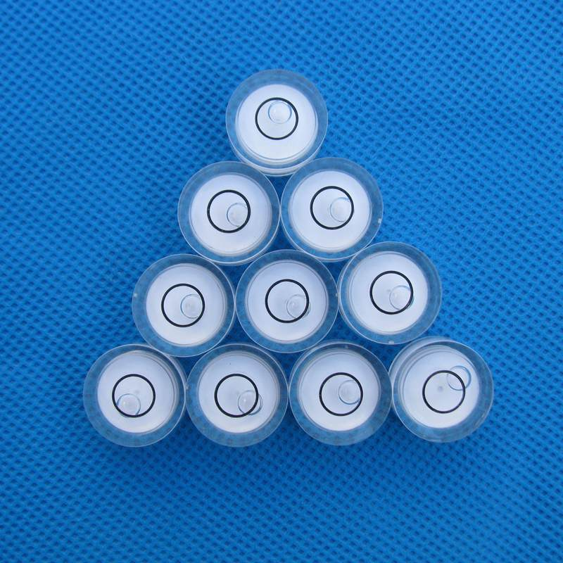 HACCURY 19*10mm couleur blanche niveau à bulle circulaire ronde en plastique fiole précision niveau à bulle prix de gros