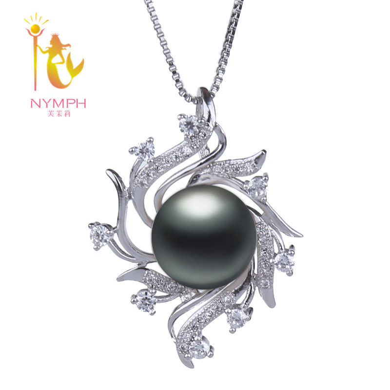 Natural Pearl Necklace Pendant Jewlery Big 10-11MM Wedding Party Fine For Women GirlD220