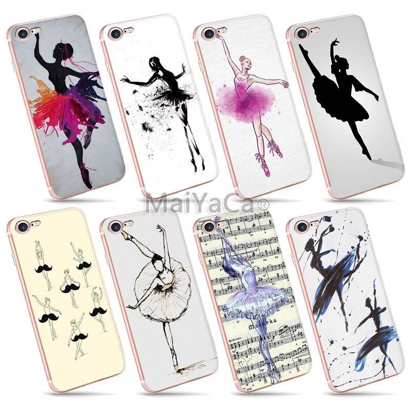 Maiyaca DIY Fashion Design кожи тонкий ТПУ ячейки для iPhone 7 Чехол Балетные костюмы для танцев для девочек