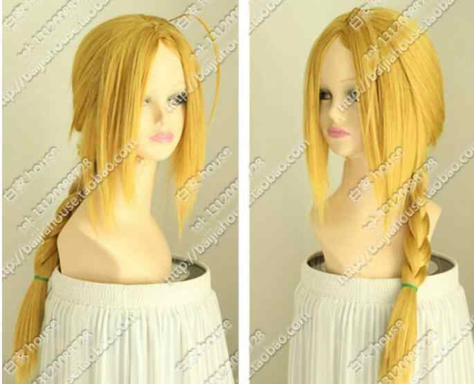Парики из цельного алхимика, парики Эдварда Элрика, длинные светлые парики для косплея