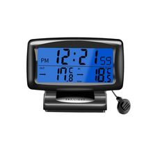 Hot Auto Accessories Electronics Internal And External Dual Temperature Car Clock Watch Car Thermometer Luminous Car Styling