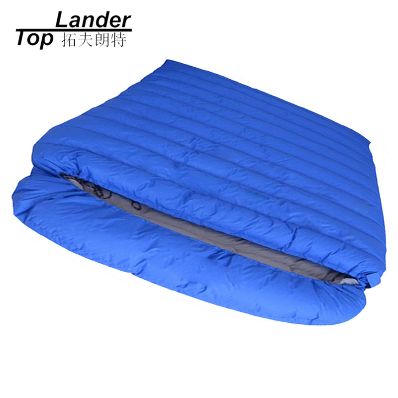 Envelope Double Sleeping Bags Adult Autumn Lengthened Warm Couple Camping Sleeping Bag Winter Ultralight Duck Down Sleeping Bag hewolf outdoor sleeping bag envelope thick warm autumn and winter camping adult sleeping bag ultralight duvet